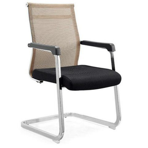 Low Price Visitor Chair Mesh Meeting Room Office Chair Cantilever Chair  Without Wheels