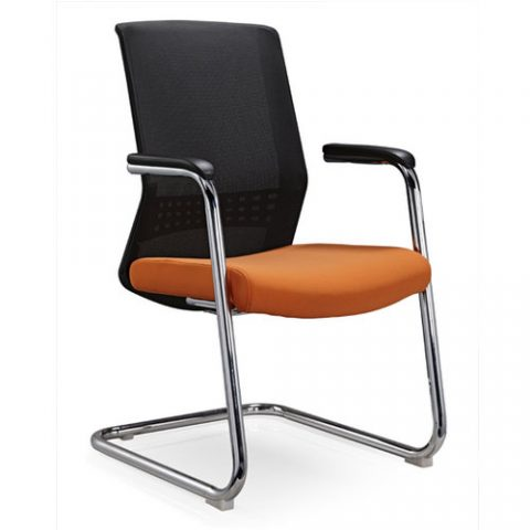 Etonnant Popular Mesh Fabric Cushion Conference Chair Ergonomic Office Meeting Room  Visitor Chairs Without Wheels