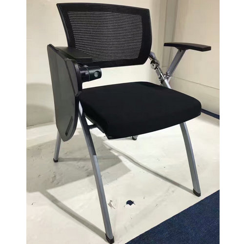 Remarkable Popular Folding Mesh Office Training Chair With Writing Pad Unemploymentrelief Wooden Chair Designs For Living Room Unemploymentrelieforg