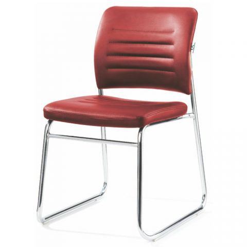 comfortable simple chrome frame stackable office visitor chair