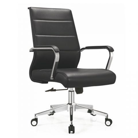 medium back leather office staff chair conference meeting room chairs with height adjustable foshan