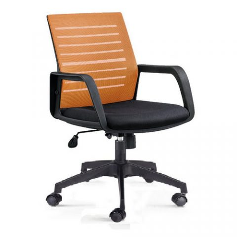 Modern Commercial Swivel Reclining Upholstered Seat Staff Mesh Office Chair With Folding Back