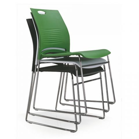 Stackable Office Guest Reception Chair Modern Metal Frame Conference