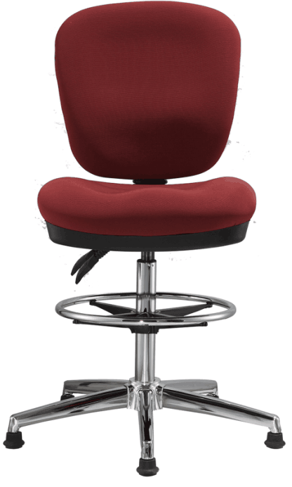 Fabric Office Drafting Chair Height Adjustable Operator