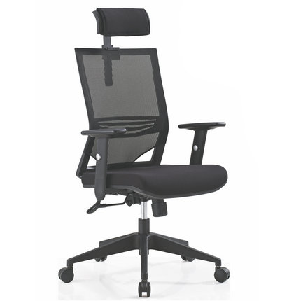 black fabric plastic mesh ergonomic office. The Height And Tilt Adjustment Controls Of Intensive Use Office Chair Make It Easy For Users To Situate Themselves, Ensuring Optimal Productivity All Black Fabric Plastic Mesh Ergonomic T